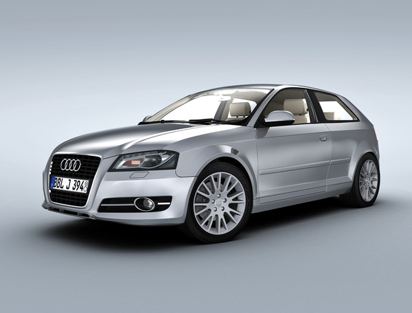 3d model audi car - Audi A3 (2011)... by Swan3DStudios